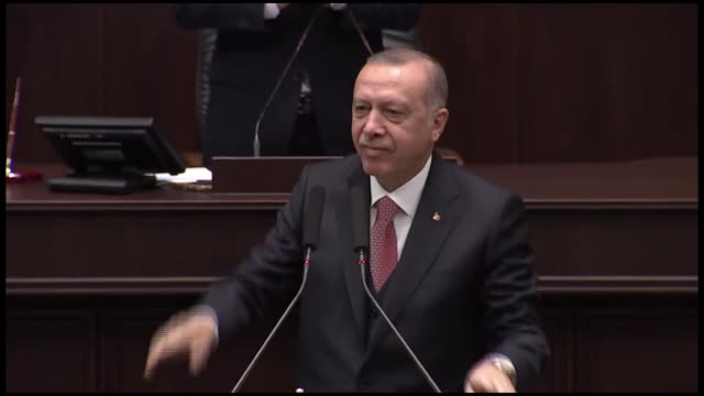 turkey is determined to use its rights based on international law on disputes over aegean sea and cyprus president recep tayyip erdogan said tuesday... - grecia stato video stock e b–roll