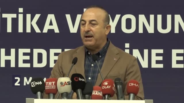 turkey is looking for the us to change its mind about iran sanctions turkey's foreign minister said on saturday speaking at an event hosted by the... - foreign minister stock videos and b-roll footage