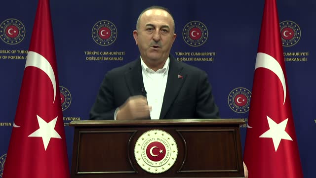 turkey is part of the solution in conflicts from somalia to afghanistan, the turkish foreign minister said on tuesday. in a keynote speech at the trt... - an answer film title点の映像素材/bロール