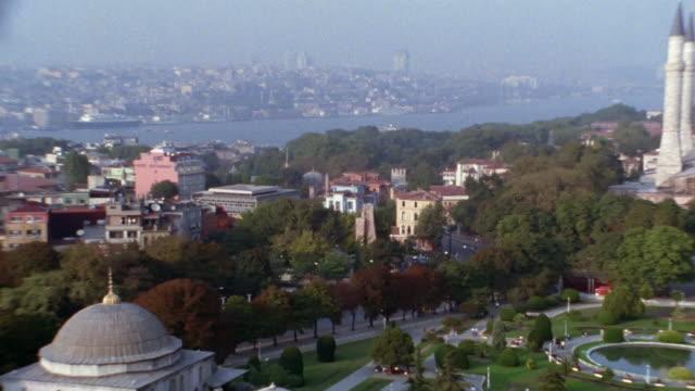 ws, pan, ha, turkey, istanbul, cityscape and hagia sophia - 1999 stock videos & royalty-free footage