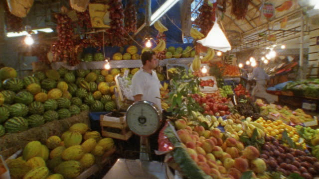 ms, cs, turkey, istanbul, fruits on farmer's market - turkey middle east stock videos & royalty-free footage