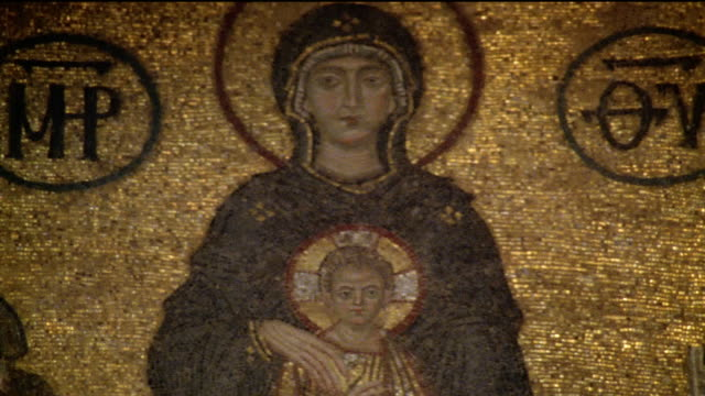 CU, TD, Turkey, Istanbul, Hagia Sophia, Mosaic of Virgin and Child