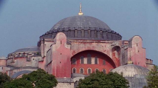 cu, turkey, istanbul, hagia sophia - tornspira bildbanksvideor och videomaterial från bakom kulisserna