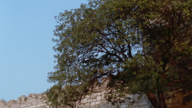 vidéos et rushes de ms, pan, turkey, istanbul, walls of constantinople - istanbul