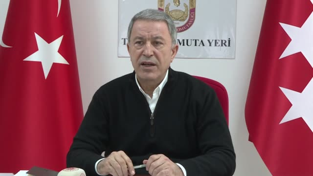 turkey launched a fresh syria operation in the wake of the recent regime attack on turkish troops in idlib said the country's defense chief on sunday... - hatay stock videos & royalty-free footage