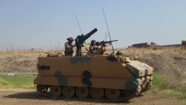 turkey launches military exercises in the silopi and habur areas on the iraqi border on september 18 2017 in sirnak turkey the manoeuvers come a week... - silopi stock videos and b-roll footage