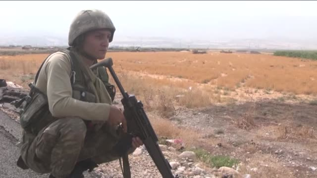 turkey launches military exercises in the silopi and habur areas on the iraqi border on september 21 2017 in sirnak turkey the manoeuvers come a week... - silopi stock videos and b-roll footage