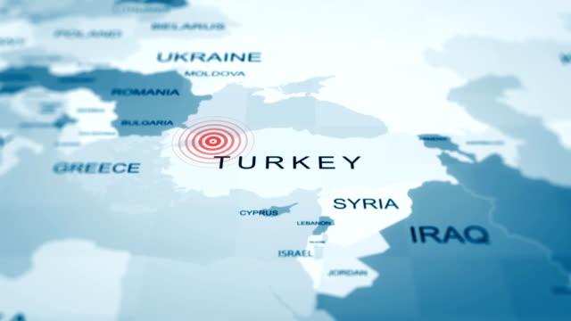 vídeos de stock, filmes e b-roll de turquia mapa istambul, quarentena, epidemia, covid-19, animação 4k - turquia