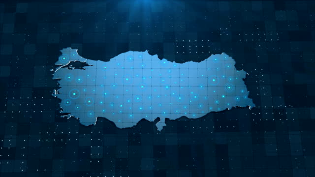 4k turkey map links 4k with full background details - climate map stock videos & royalty-free footage