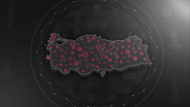 4k turkey map links 4k with full background details - prime minister stock videos & royalty-free footage