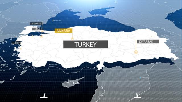 Türkei Karte mit Etikett dann mit Etikett