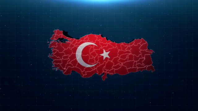 4k turkey map with national flag - web address stock videos & royalty-free footage