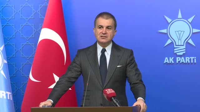 "turkey on wednesday condemned a proposal in italian parliament to declare the 1915 events as ""genocide"" speaking to media omer celik spokesman for... - anatolia stock videos and b-roll footage"