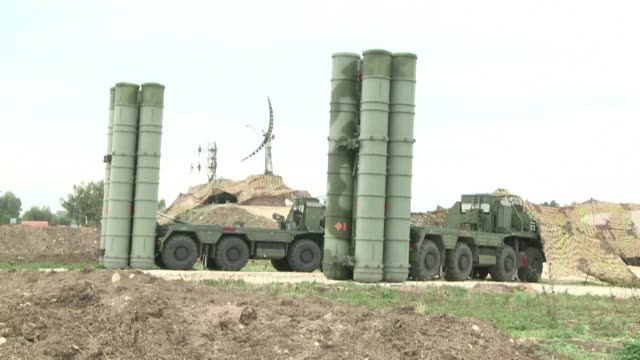 turkey received the first batch of russia's s-400 missile defence system sparking nato concern and risking deepening tensions with the united states... - order stock videos & royalty-free footage