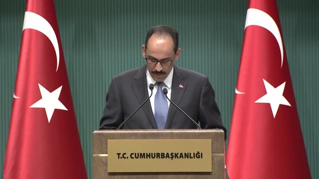 turkey replaced its land naval and air force commanders on wednesday the presidential spokesperson announced at a press conference former gendarmerie... - sostituzione video stock e b–roll