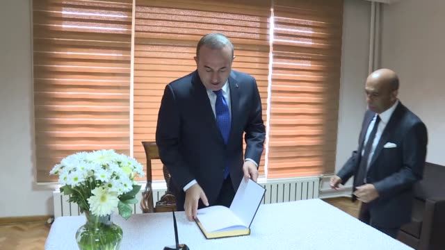 turkey stands together with sri lanka in its fight against terror the turkish foreign minister said wednesday we are shocked by the heinous terrorist... - foreign minister stock videos and b-roll footage
