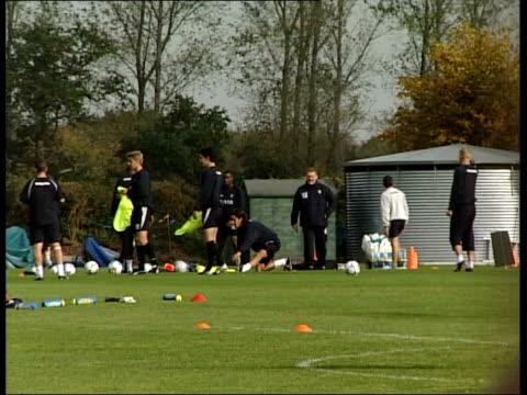 Player unrest ITN Birmingham Press gathered at gates of Aston Villa training ground GVs Aston Villa training on pitch LMS Alpay on training pitch...