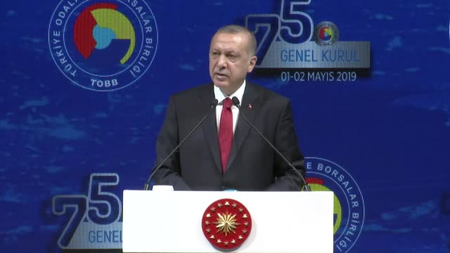 turkey will develop and grow within the bounds of the free market system turkish president recep tayyip erdogan said on thursday speaking to the... - out take stock videos and b-roll footage