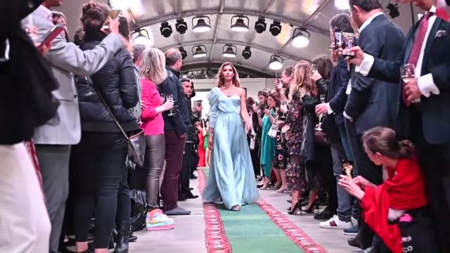 """turkey's culture and tourism ministry held a """"turkish day"""" reception friday evening at the 72nd cannes film festival one of the most prestigious... - cannes video stock e b–roll"""