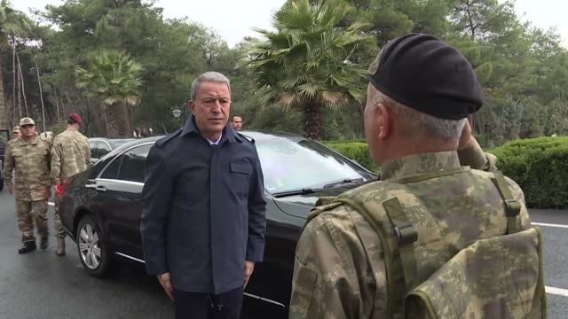 turkey's defense minister and chief of general staff on saturday inaugurated a center in southeastern sanliurfa province that would manage possible... - possible stock videos & royalty-free footage