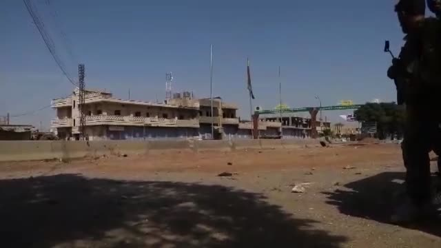 turkey's defense ministry on saturday said that ras alayn neighborhood located east of euphrates in syria was taken under control in the scope of... - siria video stock e b–roll