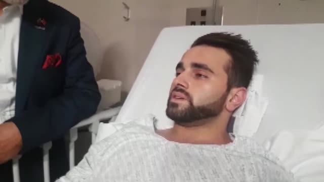 turkey's delegation visits turkish victim mustafa boztas at the hospital who injured during new zealand terror attack at mosques in christchurch on... - mosque stock videos & royalty-free footage