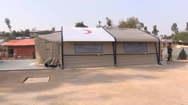 turkey's disaster management authority is building a field hospital in southeastern bangladesh for rohingya refugees who have fled state persecution... - camp x ray stock videos & royalty-free footage