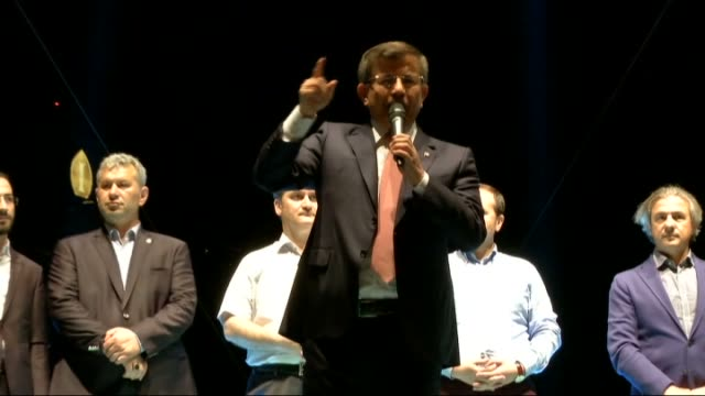 turkey's former prime minister ahmet davutoglu addresses the crowd who gathered to protest against parallel state/gulenist terrorist organization's... - staatsstreich stock-videos und b-roll-filmmaterial