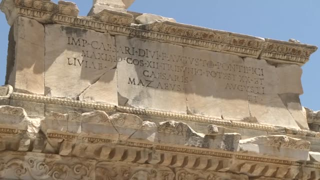 turkey's iconic ancient city of ephesus in the picturesque aegean region has decided to limit the number of daily visitors due to the novel... - unesco world heritage site点の映像素材/bロール