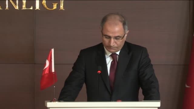 turkey's interior minister efkan ala and french interior minister bernard cazeneuve attend a joint press conference after their meeting at the... - bernard cazeneuve stock videos & royalty-free footage
