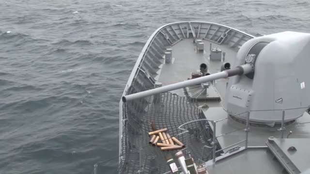 turkey's largest military exercise sea wolf 2019 continues on may 15 2019 the exercise supervised by the turkish navy will run through may 25 in the... - kriegsschiff stock-videos und b-roll-filmmaterial