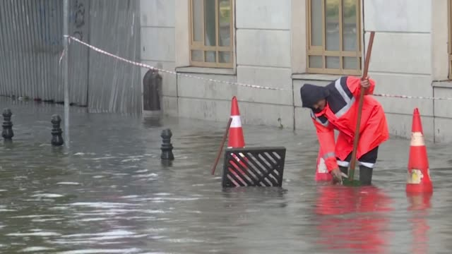 turkey's mega city istanbul is lashed by a heavy rainstorm killing a homeless man and leaving parts of the historic grand bazaar flooded - grand bazaar istanbul stock videos & royalty-free footage