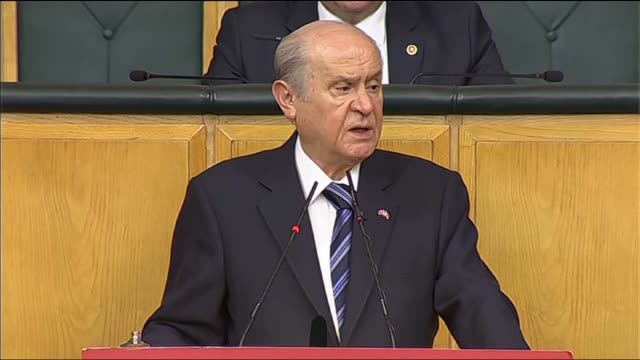 turkey's nationalist movement party's leader devlet bahceli delivers a speech during his party's group meeting at the the grand national assembly of... - november stock videos & royalty-free footage