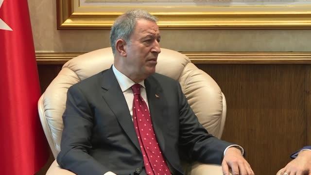 Turkeys New National Defense Minister Hulusi Akar On Tuesday Stock Footage Video