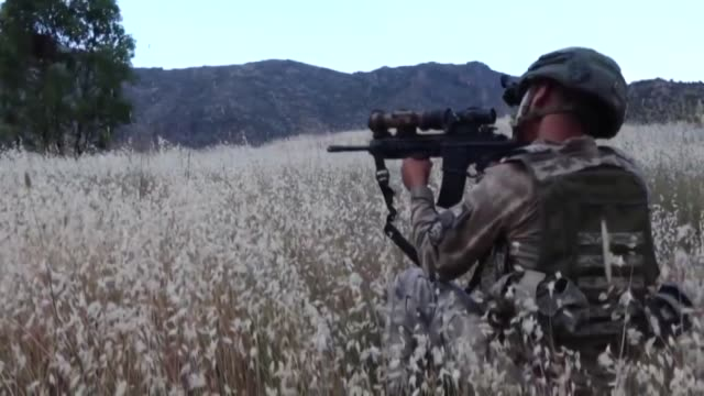 turkey's operation clawtiger against pkk terrorists continues in northern iraq on june 22 2020 turkey's antiterrorist operation clawtiger in northern... - kurdistan workers party stock videos & royalty-free footage