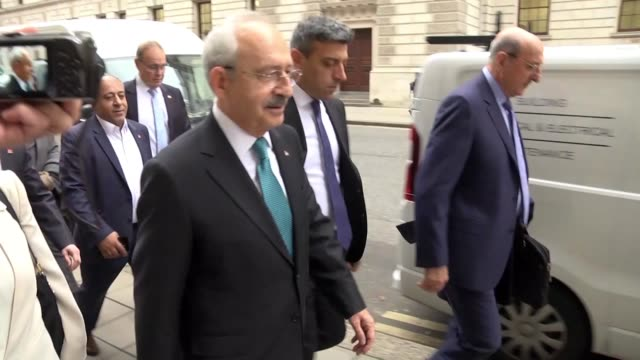 Turkey's opposition party CHP's leader Kemal Kilicdaroglu meets British Foreign Office Minister for Europe and Americas Alan Duncan in London on...