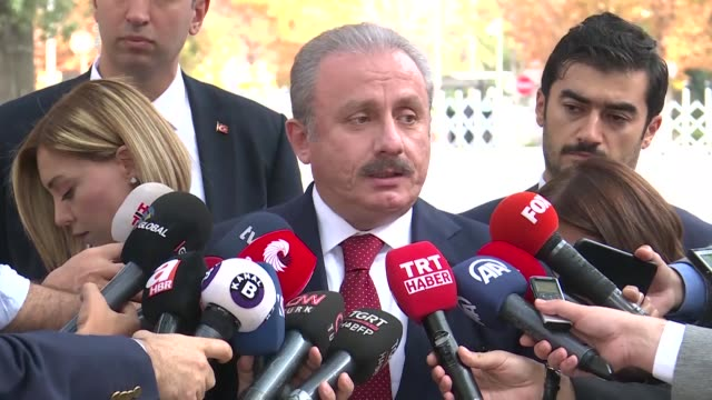 turkey's parliament speaker criticized a resolution passed in the us house of representatives recognizing the socalled armenian genocide as well as a... - bill legislation stock videos & royalty-free footage