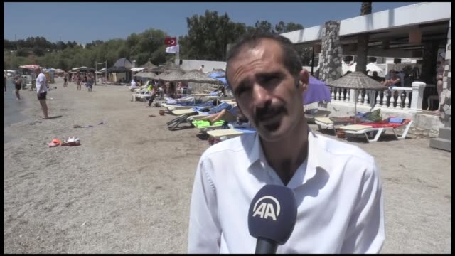 turkey's popular resort town on the aegean shore bodrum attracts tourists from all over the world with its unique landscape white summer houses and... - mugla province stock videos and b-roll footage