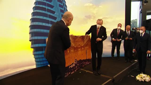turkey's president inaugurated the state-of-the-art camlica tv-radio tower in istanbul on saturday. situated on a hill overlooking turkey's largest... - portrait stock videos & royalty-free footage