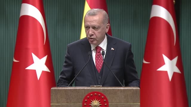 vídeos y material grabado en eventos de stock de turkey's president on tuesday hailed bolivia's support for jerusalem and praised south american country's approach to the golan heights issue as well... - bolivia