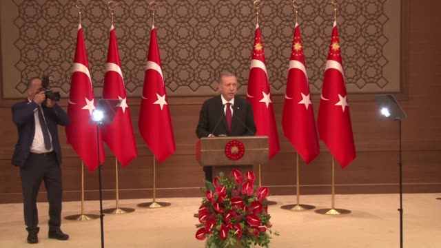 turkey's president recep tayyip erdogan unveils a new look cabinet after being sworn in for new term with his son in law berat albayrak being given... - recep tayyip erdoğan stock videos & royalty-free footage