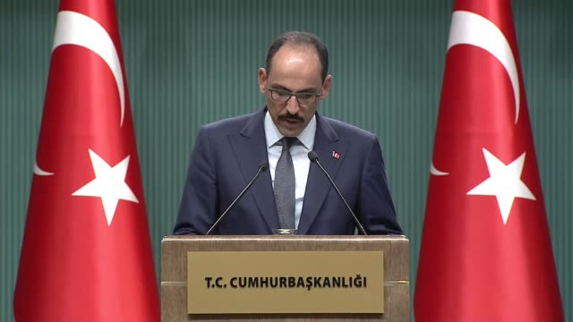 turkey's presidential spokesman on thursday announced decisions of the supreme military council ibrahim kalin said 14 generals and admirals had been... - annual general meeting stock videos & royalty-free footage