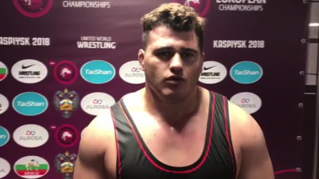 turkey's riza kayaalp has won the gold medal at the european wrestling championships in kaspiysk in russia's northern caucasus republic of dagestan... - championships stock videos & royalty-free footage