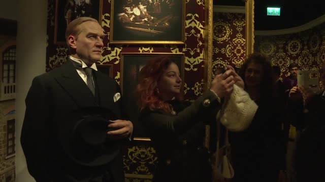 turkey's secular founder mustafa kemal ataturk stands alongside julia roberts at new branch of madame tussauds in istanbul where the creators hope a... - madame tussauds stock videos & royalty-free footage