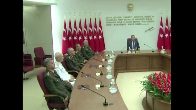 turkey's supreme military council has appointed new top brass after the shock mass resignation of its high command in a row with the government over... - brass stock videos & royalty-free footage