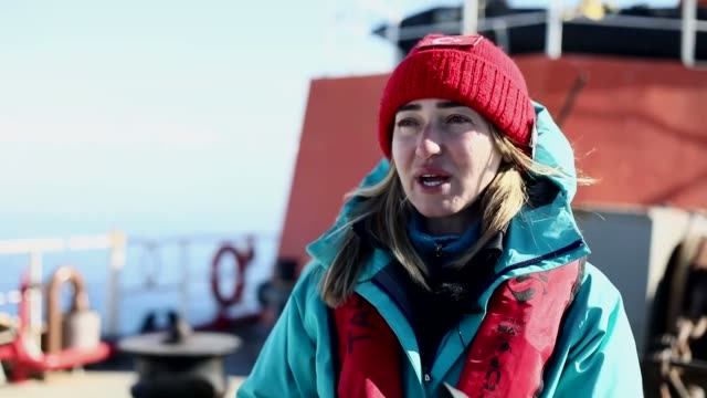 turkey's third national antarctic science expedition team completed its mission on the icy continent after 30 days of scientific studies for a month... - galicia stock videos & royalty-free footage