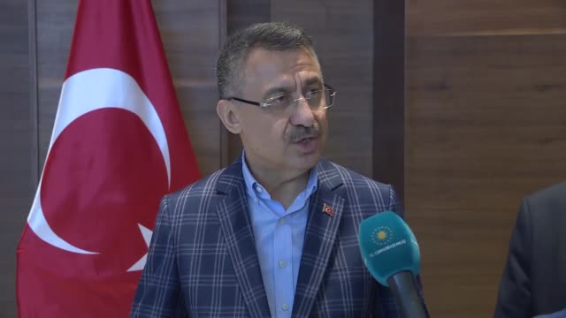 turkey's vice president on saturday called on turkish businesspeople to focus on latin america for investments speaking to the reporters fuat oktay... - ウゴ・チャベス点の映像素材/bロール