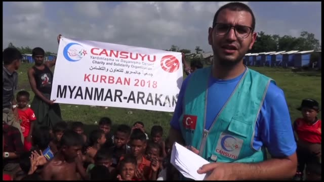 Turkish aid agency has distributed meat from sacrificed animals to thousands of Rohingya Muslims who bittersweetly celebrate Eid AlAdha in MyanmarThe...