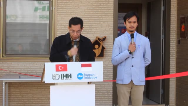 Turkish aid group in collaboration with Indonesian and Qatari charity foundations opened a new center for 18 Syrian orphan girls in southern Hatay...