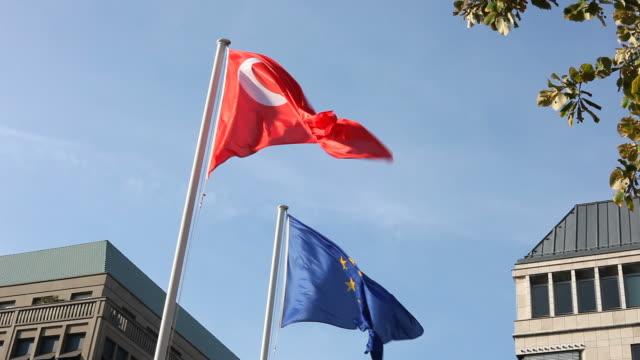 Turkish and EU flag